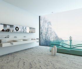Exclusive Luxury Bathroom Interior Stock Photo 14