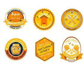 Farm fresh honey badge vector