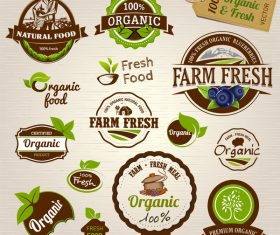 Farm fresh labels retor vector