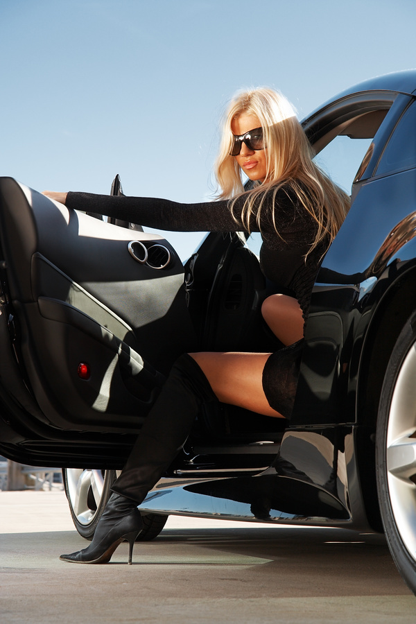 Fashion girl and car Stock Photo 02