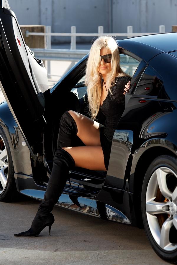 Fashion girl and car Stock Photo 03