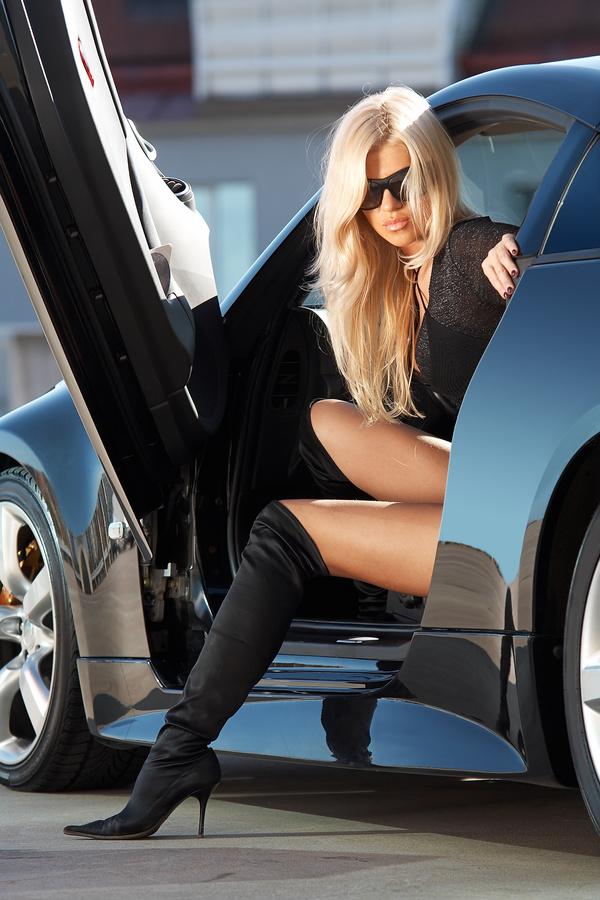 Fashion girl and car Stock Photo 06