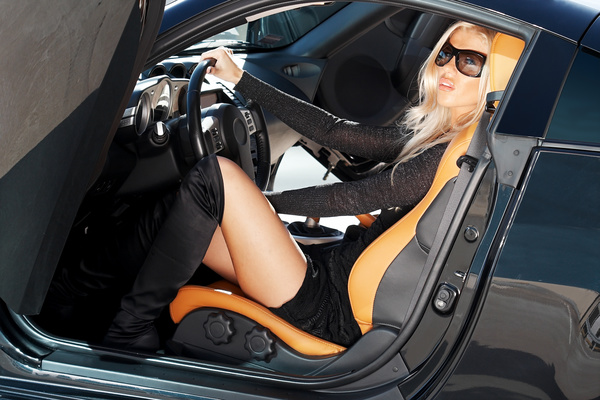 Fashion girl and car Stock Photo 08