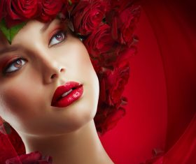 Fashion make-up woman art photo Stock Photo 01