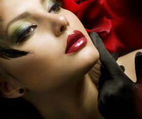 Fashion make-up woman art photo Stock Photo 06