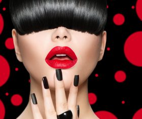 Fashion make-up woman art photo Stock Photo 09