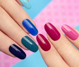 Fashion nail cosmetology Stock Photo 04