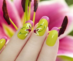 Fashion painting nail cosmetology Stock Photo