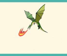 Fire dragon vector