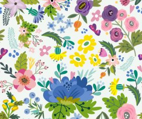 Floral amazing bright pattern vector 02