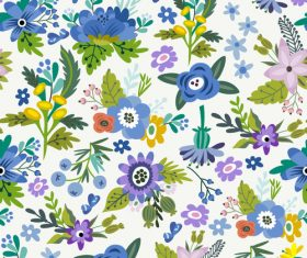 Floral amazing bright pattern vector 03