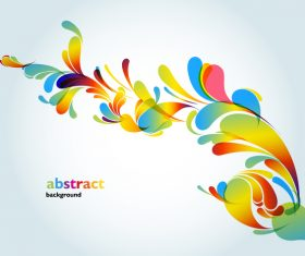 Floral colored decor vector background