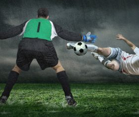 Football goalkeeper Stock Photo 01