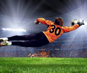 Football goalkeeper Stock Photo 02