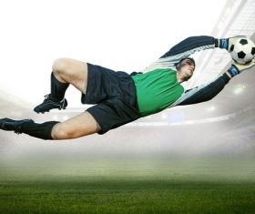 Football goalkeeper Stock Photo 03