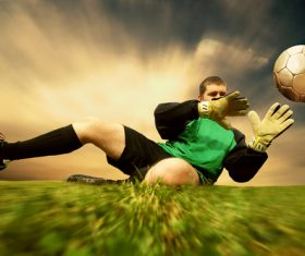Football goalkeeper Stock Photo 04