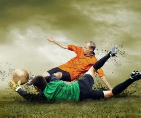 Football goalkeeper Stock Photo 06