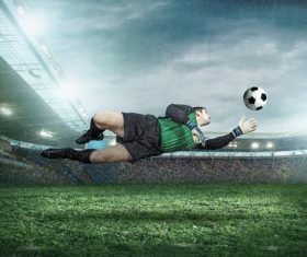 Football goalkeeper Stock Photo 07
