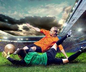 Football goalkeeper Stock Photo 08