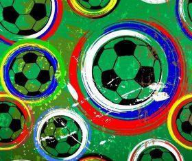 Football grunge pattern vector material
