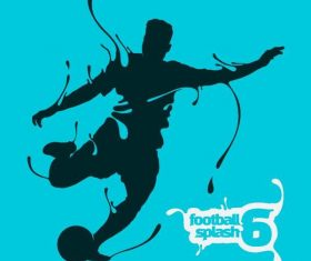 Football splash background vectors
