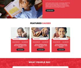 Free Non Profit Organization Website Psd Template