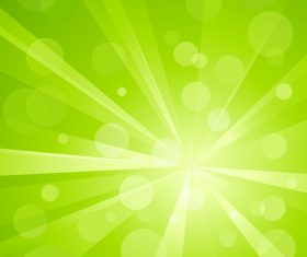 Fresh green background with sunlight vector