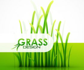Fresh green grass background design vector 02