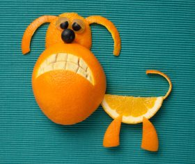 Fruits and vegetables handmade animals Stock Photo 05