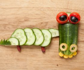 Fruits and vegetables handmade animals Stock Photo 12