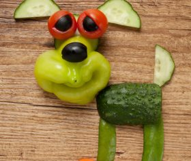 Fruits and vegetables handmade animals Stock Photo 14