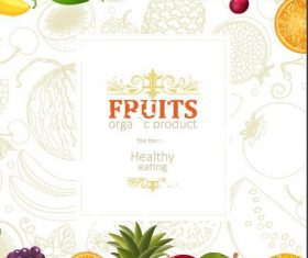 Fruits background vector design