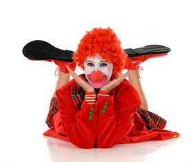Funny amuse clown Stock Photo 01