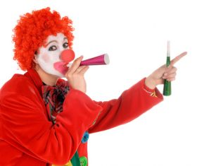 Funny amuse clown Stock Photo 03