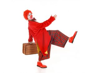 Funny amuse clown Stock Photo 04