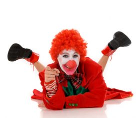 Funny amuse clown Stock Photo 07