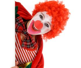 Funny amuse clown Stock Photo 09