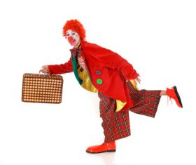 Funny amuse clown Stock Photo 10
