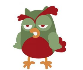 Funny cartoon chicken vector