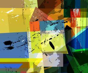 Geometric shape graffiti background vector