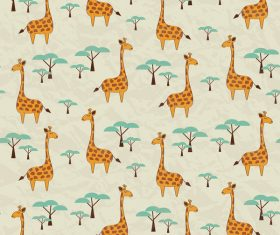 Giraffe seamless pattern vector