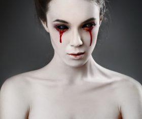 Girl scary makeup Stock Photo 01