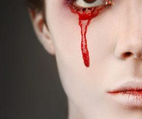 Girl scary makeup Stock Photo 03