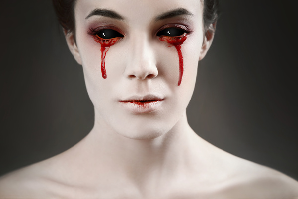 Girl scary makeup Stock Photo 05