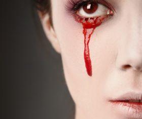 Girl scary makeup Stock Photo 06