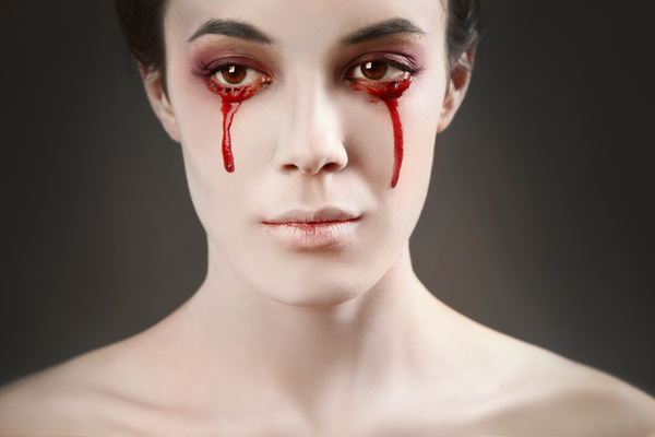 Girl scary makeup Stock Photo 07