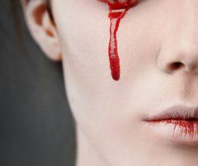 Girl scary makeup Stock Photo 08