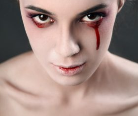 Girl scary makeup Stock Photo 10