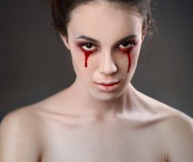 Girl scary makeup Stock Photo 11