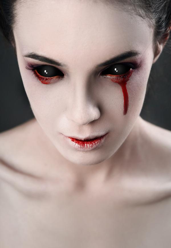 Girl scary makeup Stock Photo 12